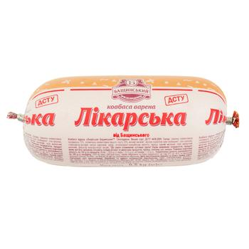 Baschinskyi likarsʹka pork boiled sausage 500g - buy, prices for Auchan - photo 1