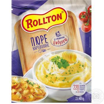 Пюре картофельное Роллтон с жареным луком быстрого приготовления 40г - купить, цены на Таврия В - фото 1