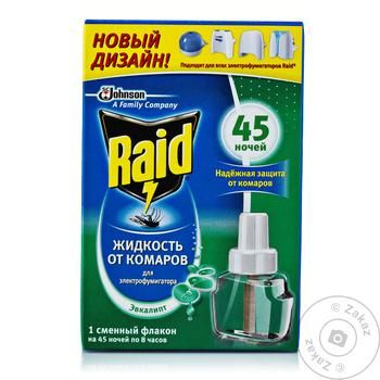 Raid With Eucalyptus For Fumigants Liquid Mosquito Repellent 45 Nights 32.9мл - buy, prices for Auchan - image 3