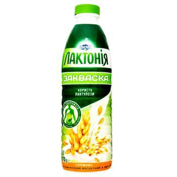 Напиток кисломолочный Лактония  йогуртный закваска с лактулозой злаки 1.5% 870г - купить, цены на СитиМаркет - фото 1