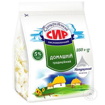 Творог Білоцерківський Домашний 5% пакет 400г - купить, цены на Фуршет - фото 1