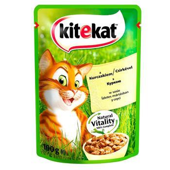 Корм Kitekat для дорослих котів з куркою в соусі 100г - купити, ціни на Ашан - фото 2