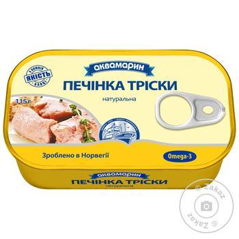Akvamaryn Natural Cod Liver 115g - buy, prices for MegaMarket - image 1