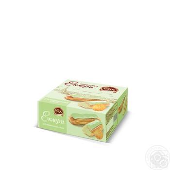 Пирожные БКК Эклеры Фисташковый вкус 165г - купить, цены на Фуршет - фото 1