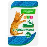 Корм Чистая ВыгоДА! для взрослых кошек с кроликом 100г