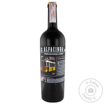 Вино Alfacinha VT IGP Reserve красное сухое 13,5% 0,75л
