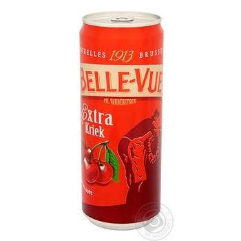 Пиво Belle-Vue Extra Kriek напівтемне з/б 4,1% 0,33л - купити, ціни на МегаМаркет - фото 1