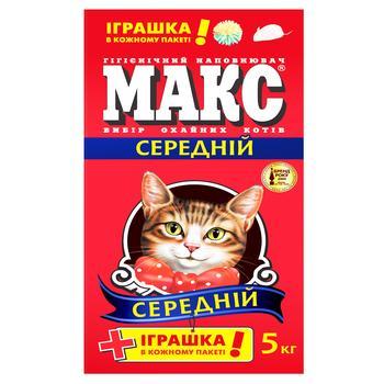 Наполнитель Макс Лаванда гигиенический средний для кошек 5кг
