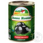 Dolyna Zhelanyy Black Olives with Bone 425ml