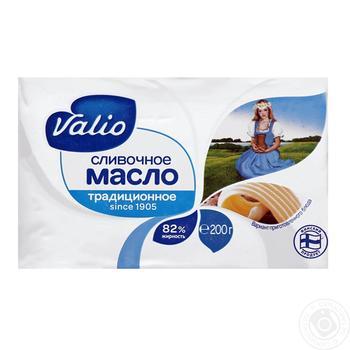Масло Валіо Вершкове без глютену 82% 200г - купити, ціни на Ашан - фото 1