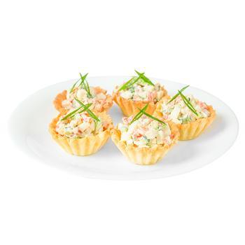 Тарталетка с форелевым салатом 60г - купить, цены на Varus - фото 1