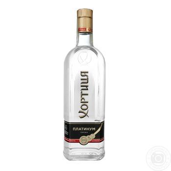 Khortytsya Platinum Vodkа 40% 0,7l - buy, prices for Auchan - photo 1