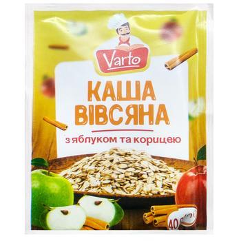 Каша Varto овсяная с яблоком и корицей быстрого приготовления 40г