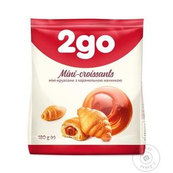 2go croissants with caramel filling mini 180g
