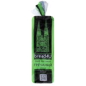 Хліб Хлібодар Тостовий Гречаний пшеничний нарізка 500г