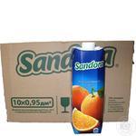 Сок Sandora апельсиновый 0,95л опт*10шт