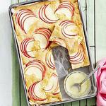 Блонди с яблоками и лимонной глазурью