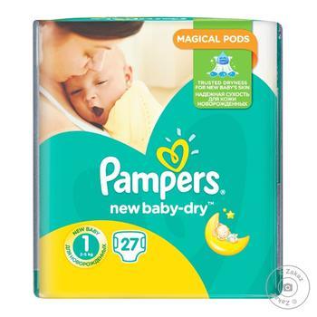 Подгузники Pampers New Baby Размер 1 2-5 кг 27шт - купить, цены на Фуршет - фото 1