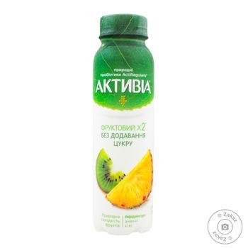 Activia Bifidoyogurt drinking without sugar Pineapple-Kiwi 1.2% 270g - buy, prices for MegaMarket - image 1