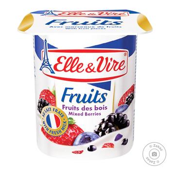 Elle&Vire Wild Berries Flavored Milk Dessert 1,6% 125g