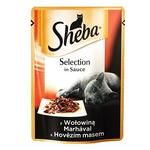 Корм Sheba з яловичиною в соусі 85г