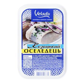 Казацкая Сельдь в масле филе-кусочки Veladis 500г - купить, цены на Ашан - фото 1