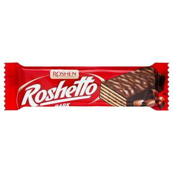 Батончик вафельный Рошен Roshetto Dark в шоколадной глазури 34г - купить, цены на СитиМаркет - фото 1