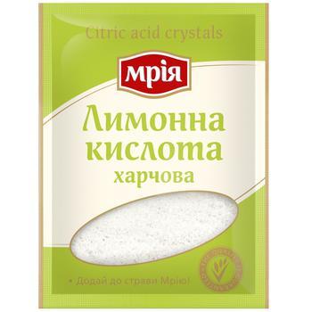 Лимонна кислота Мрія харчова 25г - купити, ціни на CітіМаркет - фото 1