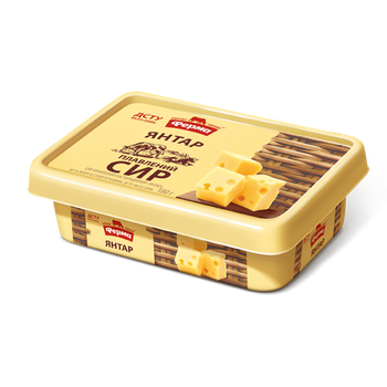 Сыр плавленый Ферма Янтарь пастообразный 60% 180г - купить, цены на Ашан - фото 1