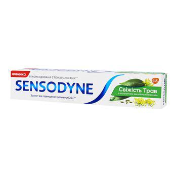 Зубная паста Sensodyne Свежесть трав 75мл - купить, цены на Ашан - фото 1