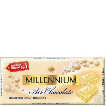 Шоколад Millennium белый пористый 90г - купить, цены на СитиМаркет - фото 1