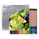 Олівці кольорові premiumсерія Artist24 кол в металкоробці 12 Арт