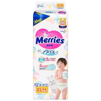 Подгузники детские Merries XL 12-20кг 44шт