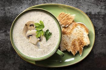 Крем-суп из королевских шампиньонов