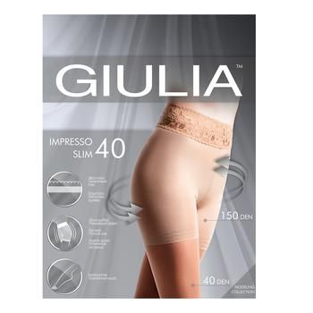 Колготы женские Giulia Impresso Slim 40ден 3 Daino