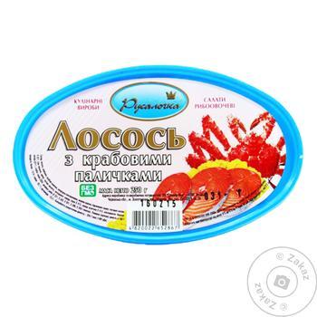 Rusalochka preserves with crab sticks salmon 250g