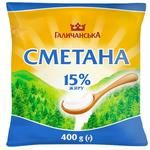 Сметана ГаличанськА 15% 400г