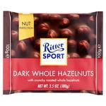 Ritter sport whole hazelnuts dark chocolate 100g