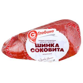 Ветчина Глобино из говядины копчено-вареная высшего сорта весовая - купить, цены на Фуршет - фото 1