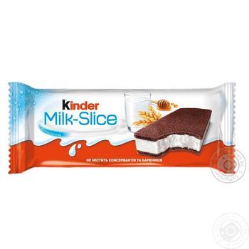 Бісквіт Milk-Slice Kinder Т1х20 28г - купить, цены на Фуршет - фото 1