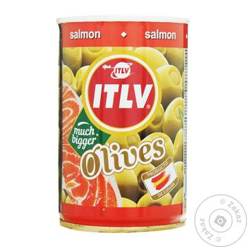 olive Itlv salmon green stuffed 314ml can