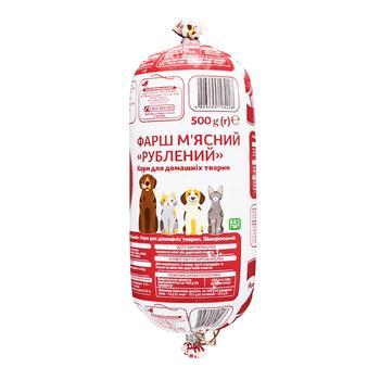 Фарш Ашан Экстра для служебных собак и породистых котов замороженный 500г