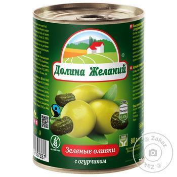 Dolina Jelaniy Green Olives with Cucumber 260g