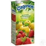 Сок Садочок яблочно-клубничный 0,95л - купить, цены на Фуршет - фото 1