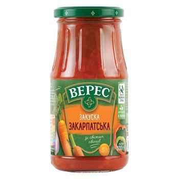 Закуска овочева Верес Закарпатська 500г - купити, ціни на CітіМаркет - фото 1