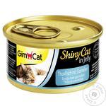 Корм Gimpet ShinyCat для кішок з тунцем та креветками 70г