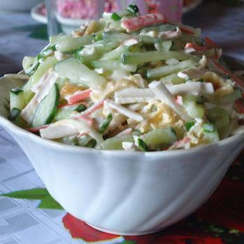 Салат із сиром сулугуні