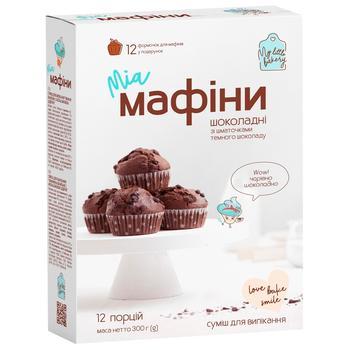 Смесь для выпечки Миа Маффины шоколадные 300г - купить, цены на УльтраМаркет - фото 1