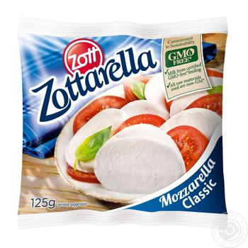 Сир Цотт Цоттарелла Класік свіжий моцарелла в розсолі 45% 125г - купити, ціни на МегаМаркет - фото 2