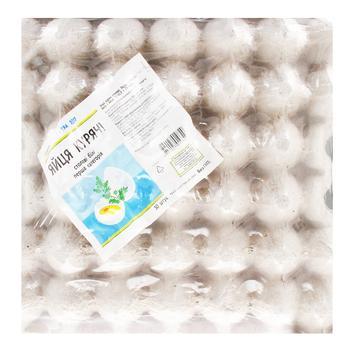 Яйце куряче Кожен день столове біле С1 30 шт - купити, ціни на Ашан - фото 1